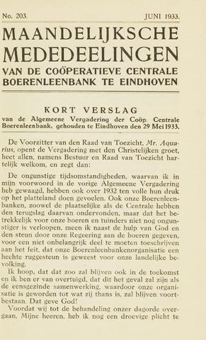 blad 'Maandelijkse Mededelingen' (CCB) 1933-06-01
