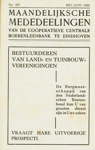 blad 'Maandelijkse Mededelingen' (CCB) 1930-05-01