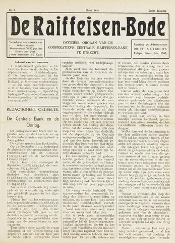 blad 'De Raiffeisen-bode' (CCRB) 1916-03-01