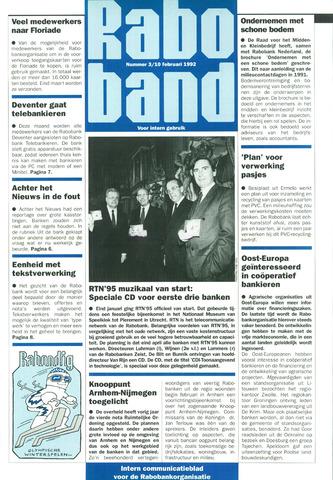 blad 'Raboband' 1992-02-10