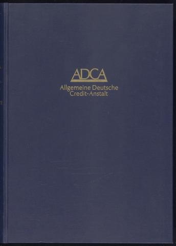 Geschäftsberichte Allgemeine Deutsche Credit-Anstalt / ADCA Bank 1963-01-01