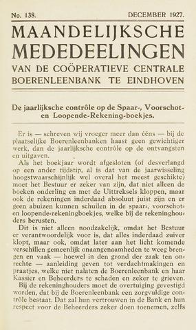 blad 'Maandelijkse Mededelingen' (CCB) 1927-12-01