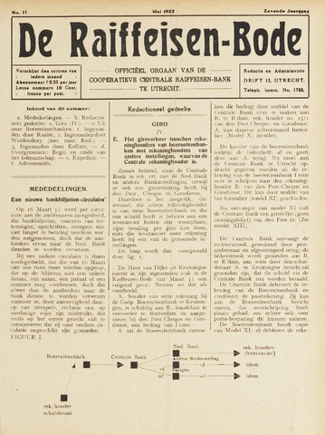blad 'De Raiffeisen-bode' (CCRB) 1922-05-01