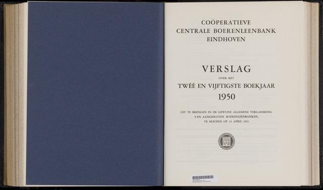 Jaarverslagen Coöperatieve Centrale Boerenleenbank 1950-12-31