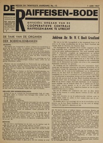 blad 'De Raiffeisen-bode' (CCRB) 1947-06-01