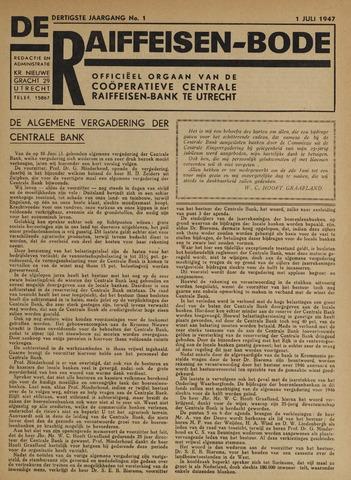 blad 'De Raiffeisen-bode' (CCRB) 1947-07-01
