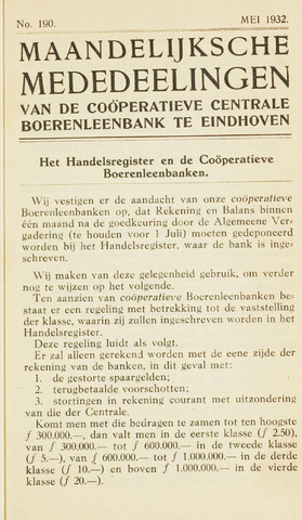 blad 'Maandelijkse Mededelingen' (CCB) 1932-05-01