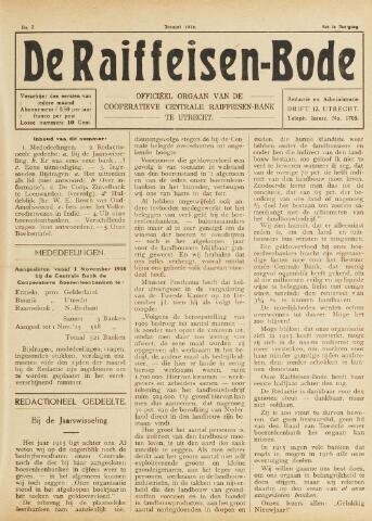 blad 'De Raiffeisen-bode' (CCRB) 1916-01-01
