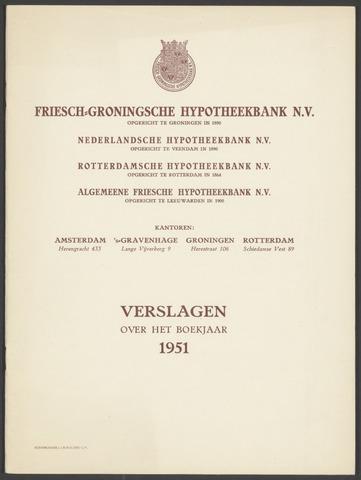 Jaarverslagen Friesch-Groningsche Hypotheekbank / FGH Bank 1951