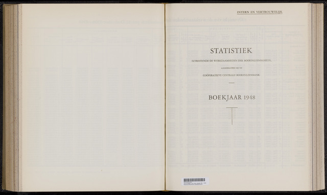 Statistiek aangesloten banken CCB 1948