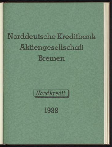 Geschäftsberichte Norddeutsche Kreditbank 1938-01-01