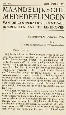 blad 'Maandelijkse Mededelingen' (CCB) 1926-11-01