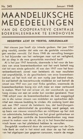 blad 'Maandelijkse Mededelingen' (CCB) 1948