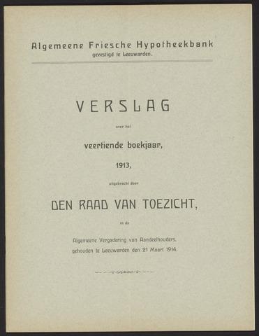 Jaarverslagen Algemeene Friesche Hypotheekbank 1913
