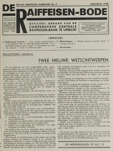 blad 'De Raiffeisen-bode' (CCRB) 1935-08-01