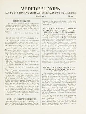 blad 'Mededeelingen' (CCB) 1912-10-01