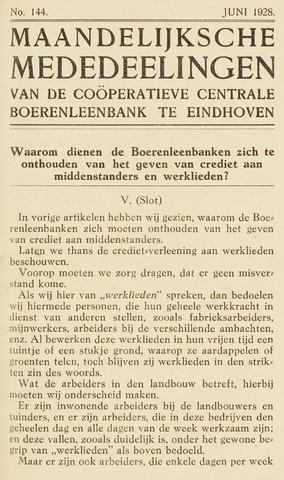 blad 'Maandelijkse Mededelingen' (CCB) 1928-06-01