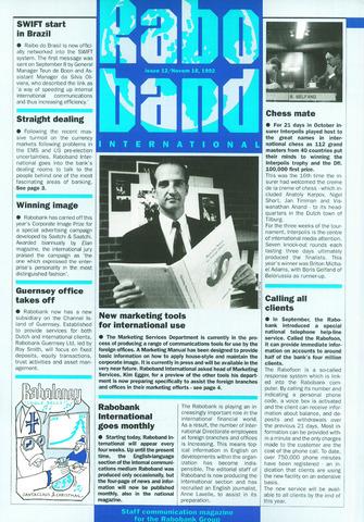 blad 'Raboband International' (EN) 1992-11-16