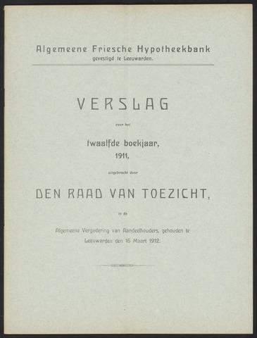 Jaarverslagen Algemeene Friesche Hypotheekbank 1911