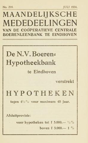 blad 'Maandelijkse Mededelingen' (CCB) 1934-07-01