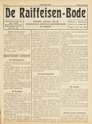 blad 'De Raiffeisen-bode' (CCRB) 1918-10-01