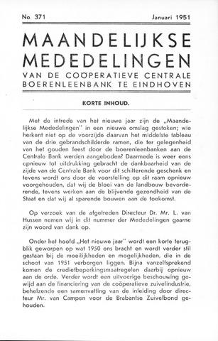 blad 'Maandelijkse Mededelingen' (CCB) 1951-01-01