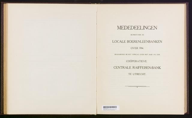 Mededelingen lokale banken CCRB 1914-12-31
