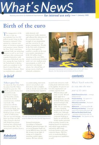 blad 'What's news' (EN) 1999