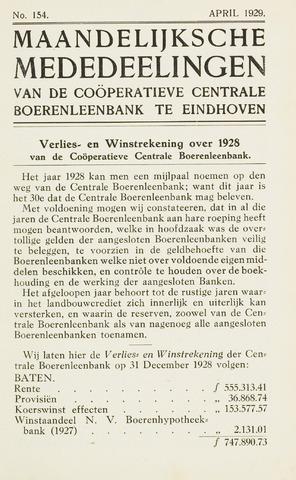 blad 'Maandelijkse Mededelingen' (CCB) 1929-04-01