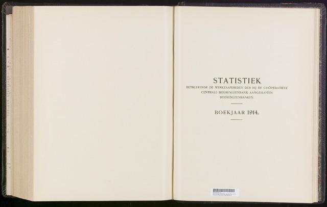 Statistiek aangesloten banken CCB 1914