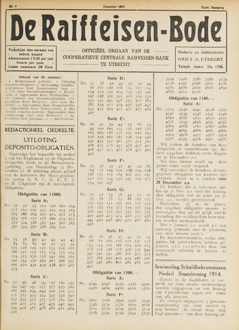 blad 'De Raiffeisen-bode' (CCRB) 1917-12-01