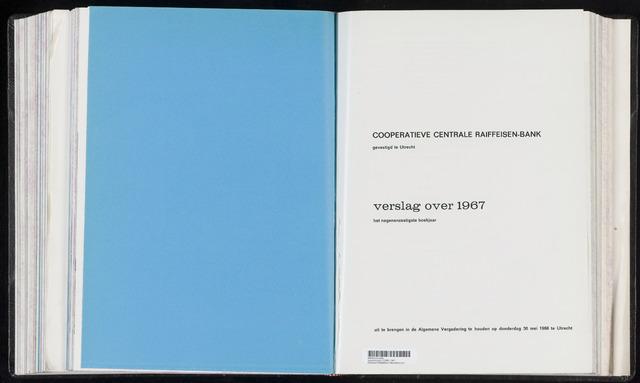 Jaarverslagen Coöperatieve Centrale Raiffeisen-Bank 1967-12-31