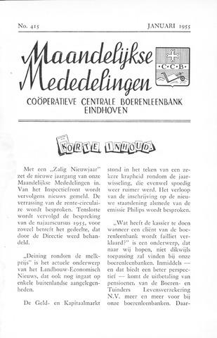 blad 'Maandelijkse Mededelingen' (CCB) 1955-01-01