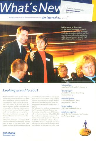 blad 'What's news' (EN) 2000-12-01