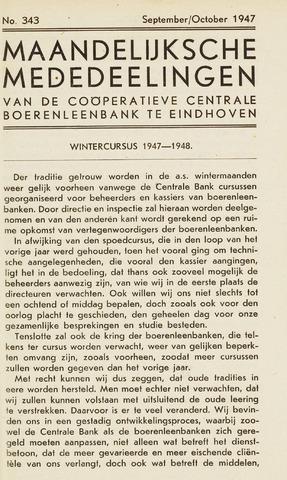 blad 'Maandelijkse Mededelingen' (CCB) 1947-09-01