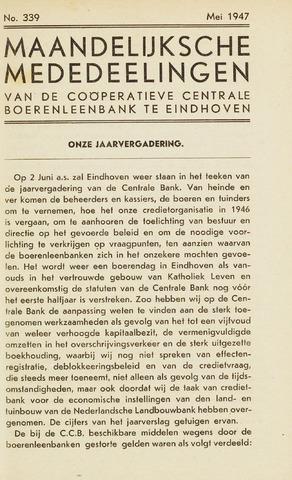 blad 'Maandelijkse Mededelingen' (CCB) 1947-05-01
