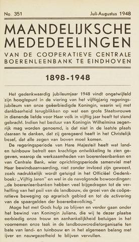blad 'Maandelijkse Mededelingen' (CCB) 1948-07-01