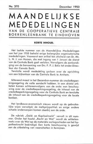 blad 'Maandelijkse Mededelingen' (CCB) 1950-12-01