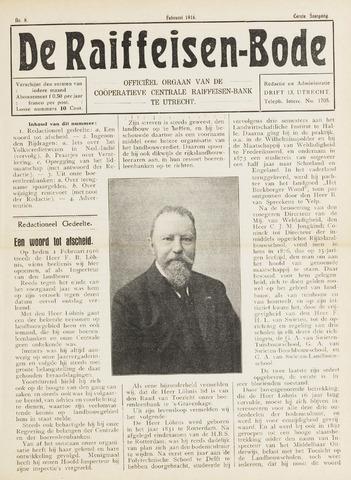 blad 'De Raiffeisen-bode' (CCRB) 1916-02-01