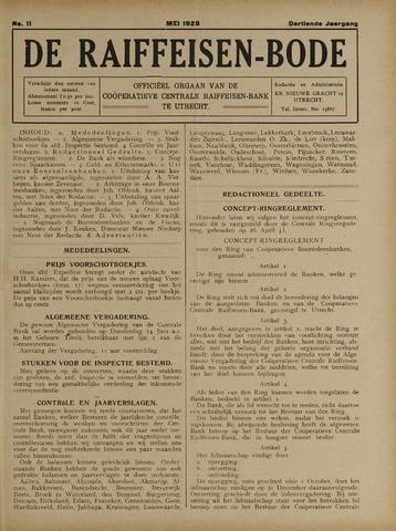 blad 'De Raiffeisen-bode' (CCRB) 1928-05-01