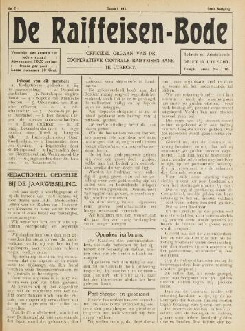 blad 'De Raiffeisen-bode' (CCRB) 1918