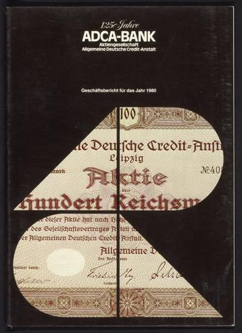 Geschäftsberichte Allgemeine Deutsche Credit-Anstalt / ADCA Bank 1980-01-01