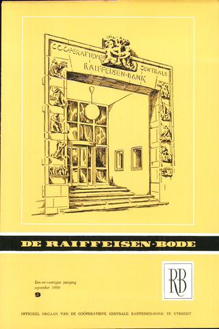 blad 'De Raiffeisen-bode' (CCRB) 1959-09-01