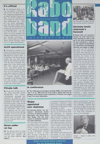 blad 'Raboband International' (EN) 1993-06-21
