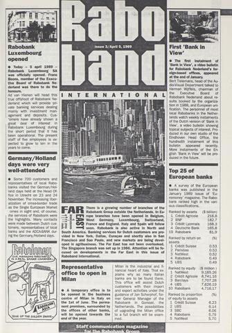 blad 'Raboband International' (EN) 1989-04-05