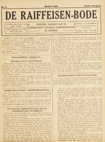 blad 'De Raiffeisen-bode' (CCRB) 1925-03-01