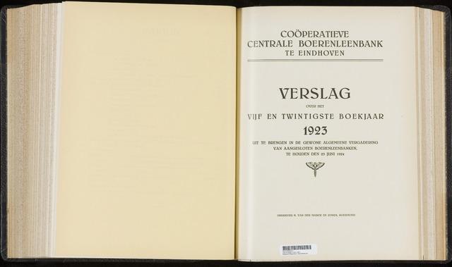 Jaarverslagen Coöperatieve Centrale Boerenleenbank 1923-12-31