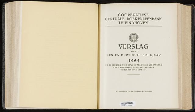 Jaarverslagen Coöperatieve Centrale Boerenleenbank 1929-12-31