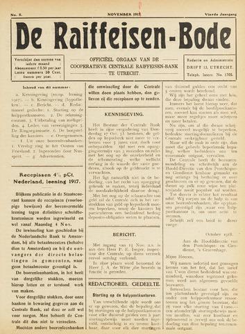 blad 'De Raiffeisen-bode' (CCRB) 1918-11-01