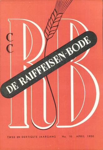 blad 'De Raiffeisen-bode' (CCRB) 1950-04-01